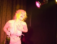 Ms Bunny Love performing at the Friday night Slipper Room hot box. Photo by Andrew T. Foster.