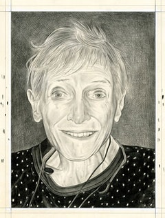 Portrait of Nancy Spero. Pencil on paper by Phong Bui.