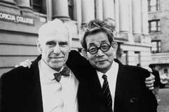 Barney Rosset and Kenzaburo Oe (1997) in OBSCENE, an Arthouse Films release 2008  (Oe's introduction to the Academy of Arts and Letters, May 21, 1997)