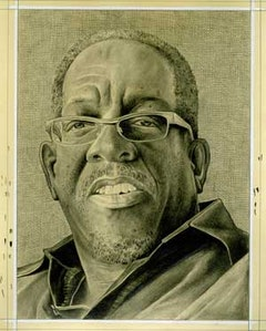 <i>Portrait of the artist.  Pencil on paper by Phong Bui.</i>