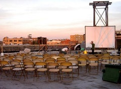<i>Rooftop Screening at The Old American Can Factory. Photo by Sarah Palmer.</i>