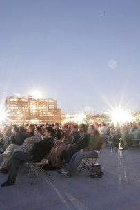 <i>Patrons at the Rooftop Screening. Photo by Sarah Palmer.</i>