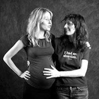 Photo of Jennifer Baumgardner and Gillian Aldrich, by Tara Todras-Whitehill