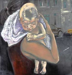 """""""Baby"""" (2008). Oil on graphite on linen, 68 x 66 inches. Courtesy of the artist and Arndt & Partner Zurich."""