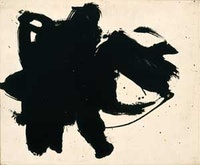 "Robert Motherwell (1915-1991), ""Frontier #6,"" 1958, oil on board, 15 x 18 in., private collection. ©2007, Dedalus Foundation, Inc. Licensed by VAGA, Inc."