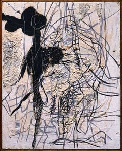 "Perle Fine (1905-1988), ""Untitled,"" c.1957, oil and collage on canvas, 11 x 9 in., private collection, Chicago, IL."
