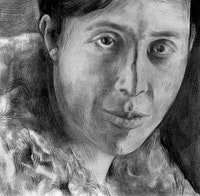 Portrait of Nemirovsky, pencil and paper by Phong Bui, 2005