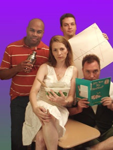 Looking into the NeoFuture (clockwise from left): Kevin R. Free, Jeffrey Cranor, Christopher Borg, Eevin Hartsough