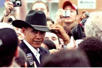 Obama in Austin, TX, earlier this year. Photo by Matt Wright.