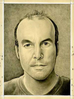 Portrait of the author. Pencil on paper by Phong Bui.