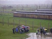 Student groups at Auschwitz-Birkenau. Photos by Alan Lockwood.