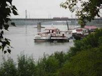 The Vistula River bridges in Warsaw.