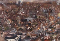 "Ali Banisadr, ""Untitled (Black 2),"" 2008. 22 x 32 inches, oil on linen. Courtesy Leslie Tonkonow Artworks + Projects, New York."