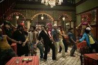 Shabbir Ahuwalia, Tusshar Kapoor, Vivek Oberoi, Rohit Roy, Aditya Lakhia during the Ganpat  song.