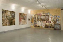 Installation view <i>Layered Days</i> José Parlá at Christina Grajales, Inc. Left