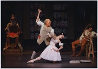 Photo left: Coppelia performed by Megan Fairchild and Robert LaFosse. Photo credit: Paul Kolnik.
