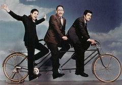The cast of <i>STELLA</i> (from left, Michael Ian Black, David Wain, and Michael Showalter) on a joy ride