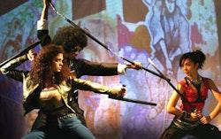 Bonnie Sherman, Sheldon Best, and Maureen Sebastian in Soul Samurai. Photo by Theresa Squire.
