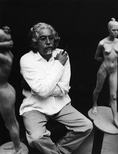 The artist in his studio, 1994.