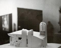 Plaster model of Notre-Dame-du-Haut.