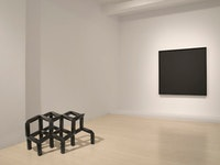 Installation view of <i>Ad Reinhardt Tony Smith: A Dialogue</i> exhibition at Pace Wildenstein gallery. Courtesy of the gallery.