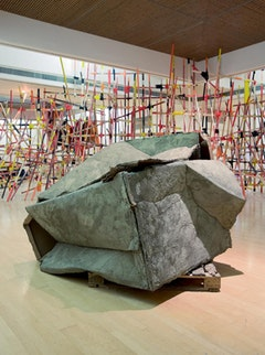 Phyllida Barlow, Installation view of 'Stint' at Mead Gallery, University of Warwick. Courtesy of Mead Gallery. Copyright information Phyllida Barlow  Photo by: Francis Ware