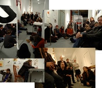 Sharon Butler and Austin Thomas held a salon at Pocket Utopia in Bushwick to discuss the phenomenon of ObamArt, and to consider how art making and exhibition practices might evolve in the ebullient age of Obama. In light of its political content, they styled the event a