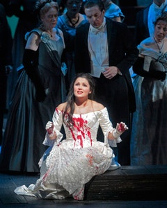 Blood wedding: Anna Netrebko in Lucia di Lammermoor's climactic mad scene. Photos: Ken Howard/Metropolitan Opera.