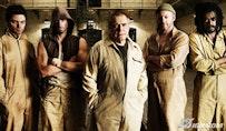 From left to right: Dominic Cooper, Joseph Fiennes, Brian Cox, Dominic Cooper, Seu Jorge. © IFC Films.
