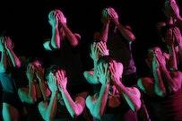 """Batsheva Dance Company, """"Max,"""" by Ohad Naharin. Performers: The Company. BAM Howard Gilman Opera House, Brooklyn, NY, March 4, 2009. Photo by: Julieta Cervantes."""