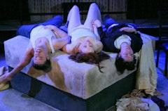 Ken Matthews, Erin Maya Darke, and Bronwen Coleman in <i>Love</i>. Photo Credit: Dan Henry