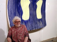 Photo of the artist in his studio. Photo by Grechen Kraus, 2006.