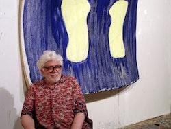 Photo of the artist in his studio. Photo by Grechen Kraus, 2006.