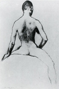 "Pablo Picasso, ""Rider Seen from Behind"" (1906). Paris. Courtesy of ARS."