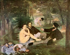 "Edouard Manet, ""Déjeuner sur l'herbe"" (1863). 831/8˝ × 1061/4˝"