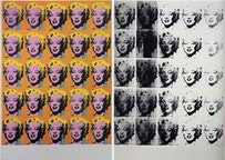 "Andy Warhol, ""Marilyn Diptych"" (1962). Courtesy of ARS."