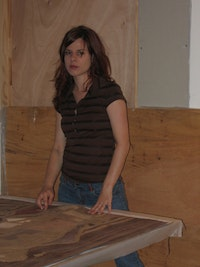 The artist in her studio. Photo by Andy Hunter.