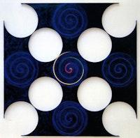 """Paul Mogensen, """"Black widow"""" (1994).  Oil, 8 feet × 8 feet."""