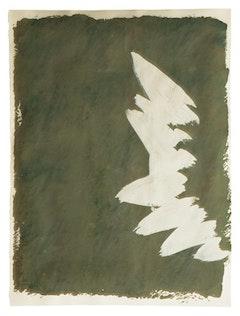 """Jack Bush, """"Apple Blossom Burst"""" (1971). Gouache, 221⁄2 × 30 inches."""
