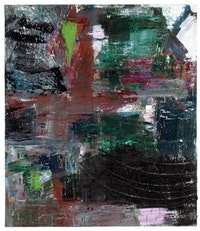 """Louise Fishman """"All Night and All Day"""" (2009). Oil on canvas, 66 × 57 inches. Courtesy of Cheim & Read."""