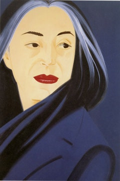 "Alex Katz, ""Black Scarf"" (1995). Oil on linen, 72 x 48 inches. Sam Rose and Julie Walters, Partial and Promised. Gift to the Smithsonian American Art Museum. Courtesy of the artist."