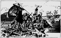 """Raft of the Critical Medusa."" by Loren Munk."