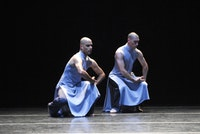 "Emanuel Gat (left) and Roy Assaf (right) in Gat's ""Winter Voyage"" which received its New York premiere at Lincoln Center Festival 2006. Performance July 12, 2006 at La Guardia Concert Hall in New York City."