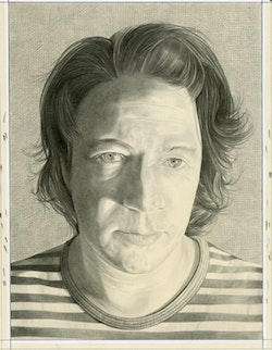 Portrait of Miles Bellamy. Pencil on paper by Phong Bui.
