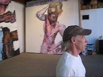 Jim Herbert in his Bushwick studio.