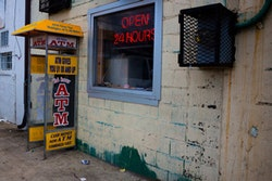 ATM in the Anacostia neighborhood, Washington DC. Credit <a href=