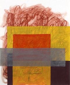 Robert C. Morgan, Neruda/5, 2005, conte/acrylic/paper, 13 3/4 X 16 3/4