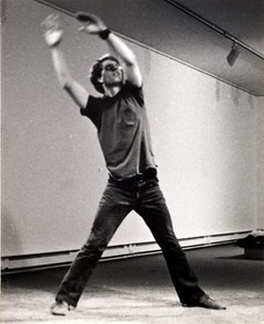 Robert C. Morgan, Routines, 1974, performance, Institute of Contemporary Art, Boston