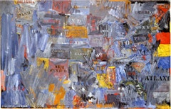 Jasper Johns, MAP (1963). Encaustic and collage on canvas. 60 x 93 (152.4 x 236.2 cm). Private collection.