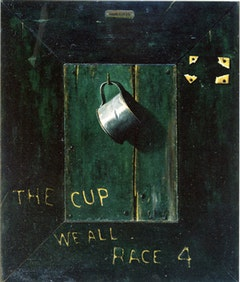 John F. Peto, THE CUP WE ALL RACE 4 (c. 1900). Oil on canvas and wooden panel. 25 1/2 x 21 1/2 in. (64.8 x 54.6 cm). Fine Arts Museums of San Francisco. Gift of Mr. and Mrs. John D. Rockefeller 3rd.